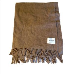 WILFRED CLASSIC WOOL SCARF BROWN